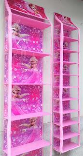 Rak Tas Rak Sepatu Frozen Pink