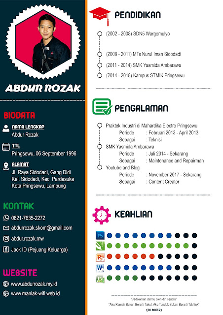 Desain Surat Lamaran Kerja CV dengan CorelDraw [01]