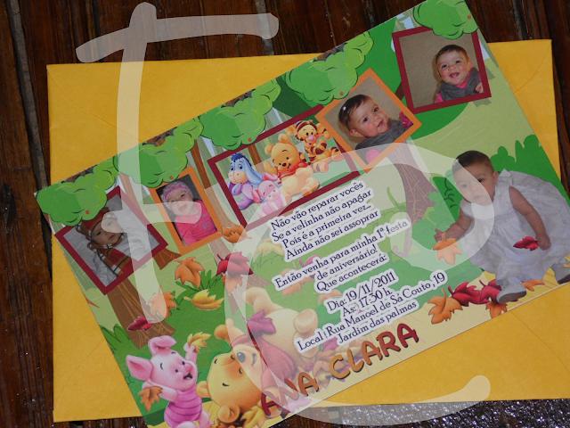 Convite Padrão - Baby Pooh