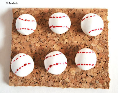 Baseball Thumbtacks, Large Baseball Pushpins, Giant Thumbtacks, Corkboard Pushpins