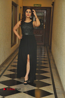Actress Surabhi Stills in Black Long Dress at turodu Audio Launch  0073.JPG