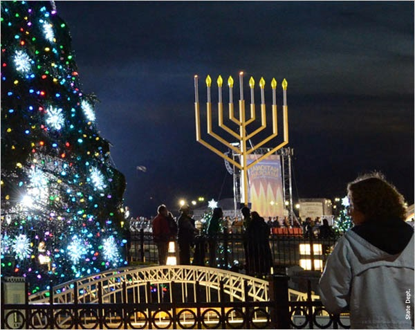 hanukkah-menorah-and-christmas-tree-lighting