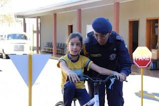 Guarda Municipal de Arapongas (PR) retoma as aulas da Escolinha de Trânsito