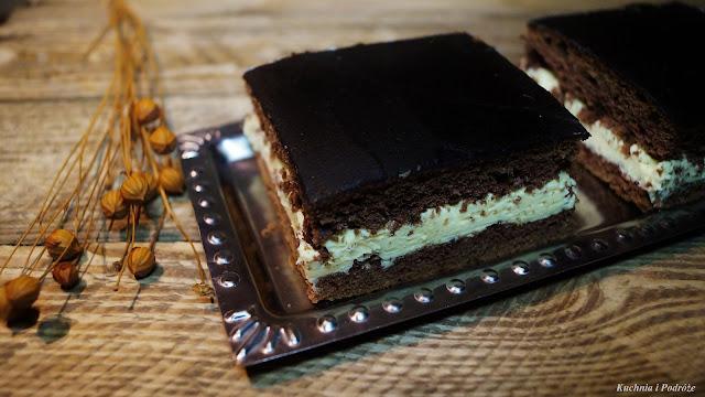 Ciasto kakaowe z masą mleczną