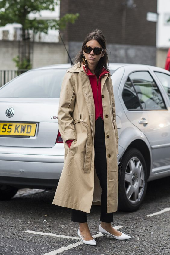Natasha Goldenberg Trench London Fashion Week LFW SS17 Street Style