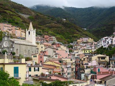 Church in Riomaggiore in fall