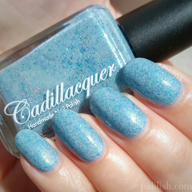Swatch of Cadillacquer 'Rán', three coats with topcoat | polilish