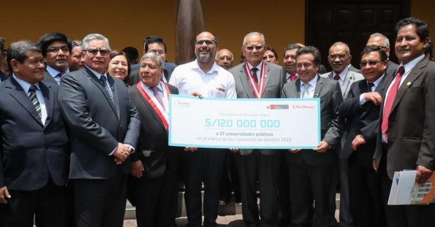 MINEDU destina 120 millones de soles a favor de 27 universidades públicas - www.minedu.gob.pe