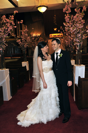 Wedding at Temple Beth El