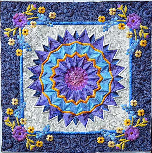 Panache Quilt made by Karen Marchetti of Creative Longarm Quilting. The pattern is designed by Christine Stainbrook of Project House 360