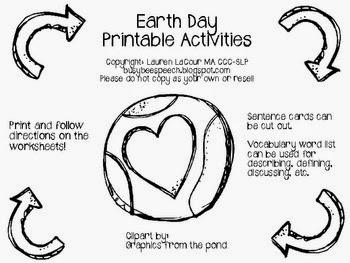 Bright Ideas SLP: Earth Day Freebie Round Up!