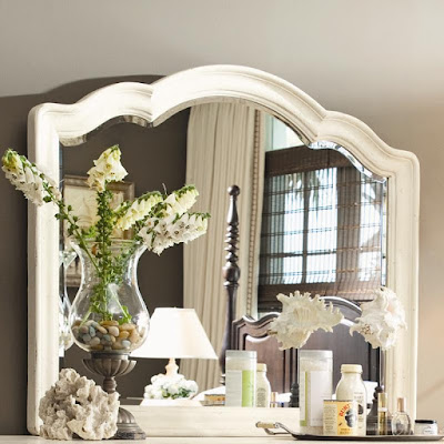 Home Decorative Landscape Mirror in White