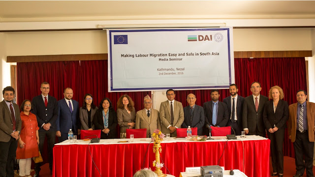 "Group photo at the ""Making Labour Migration Easy and Safe in South Asia"""