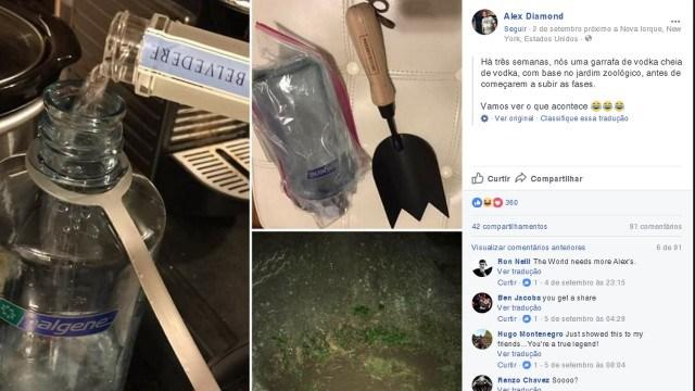 Homem enterra vodka em terreno três semanas antes de festival