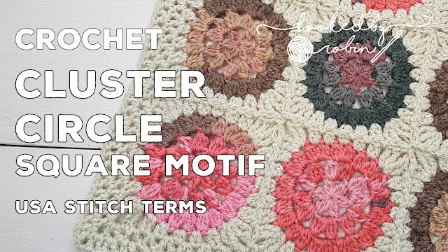 Cluster Stitch Crochet Circle motif