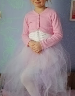 strój księżniczki, sukienka na szydełku