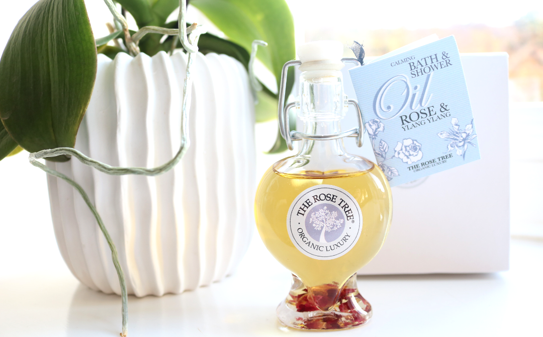 The Rose Tree Calming Bath & Shower Oil in Rose & Ylang Ylang review