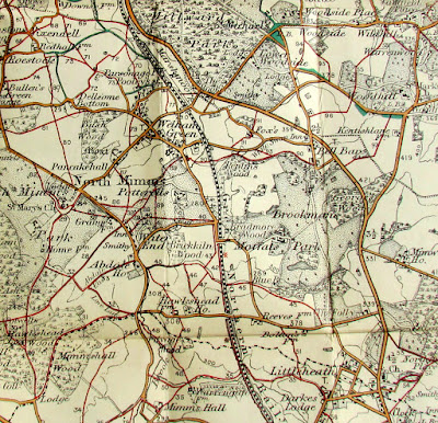 Photograph of a map from Public Footpaths 1900s from The Peter Miller Collection