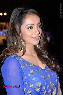 Telugu Actress Tejaswi Madivada Pos in Blue Long Dress at Nanna Nenu Na Boyfriends Audio Launch  0060.JPG