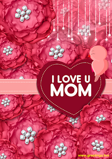 I love u mom greetings birds love heart symbol