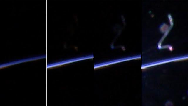 Fiapo nas lentes da Estação Espacial Internacional - não é um OVNI