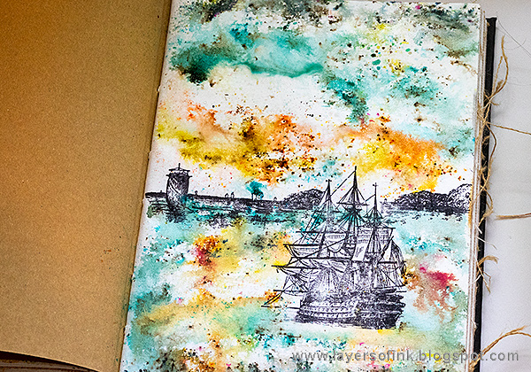 Layers of ink - Dramatic Seascape Journal Tutorial by Anna-Karin Evaldsson with Paper Artsy Infusions