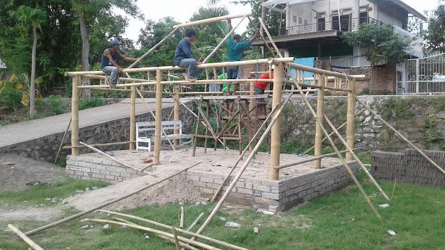 Skala bersama CSR Sampoerna Untuk Indonesia Bangun Fasum dan Fasos di Lombok