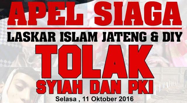 Ayo Gabung!! Apel Siaga Laskar Forum Umat Islam Semarang Tolak PKI dan Syiah