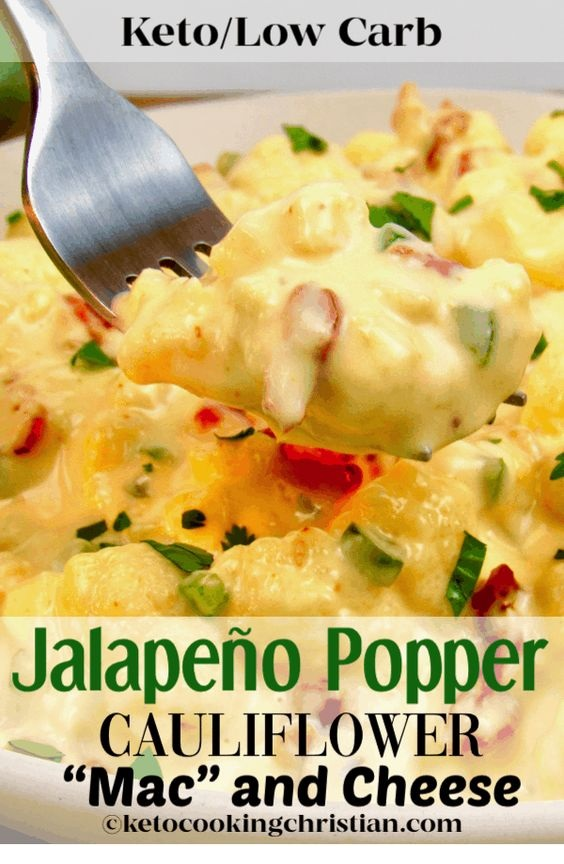 Keto Jalapeño Popper Cauliflower Mac And Cheese