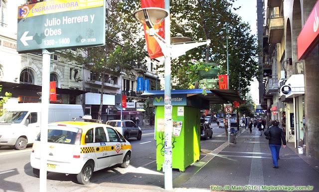 Av. 18 de Julho no centro de Montevidéu