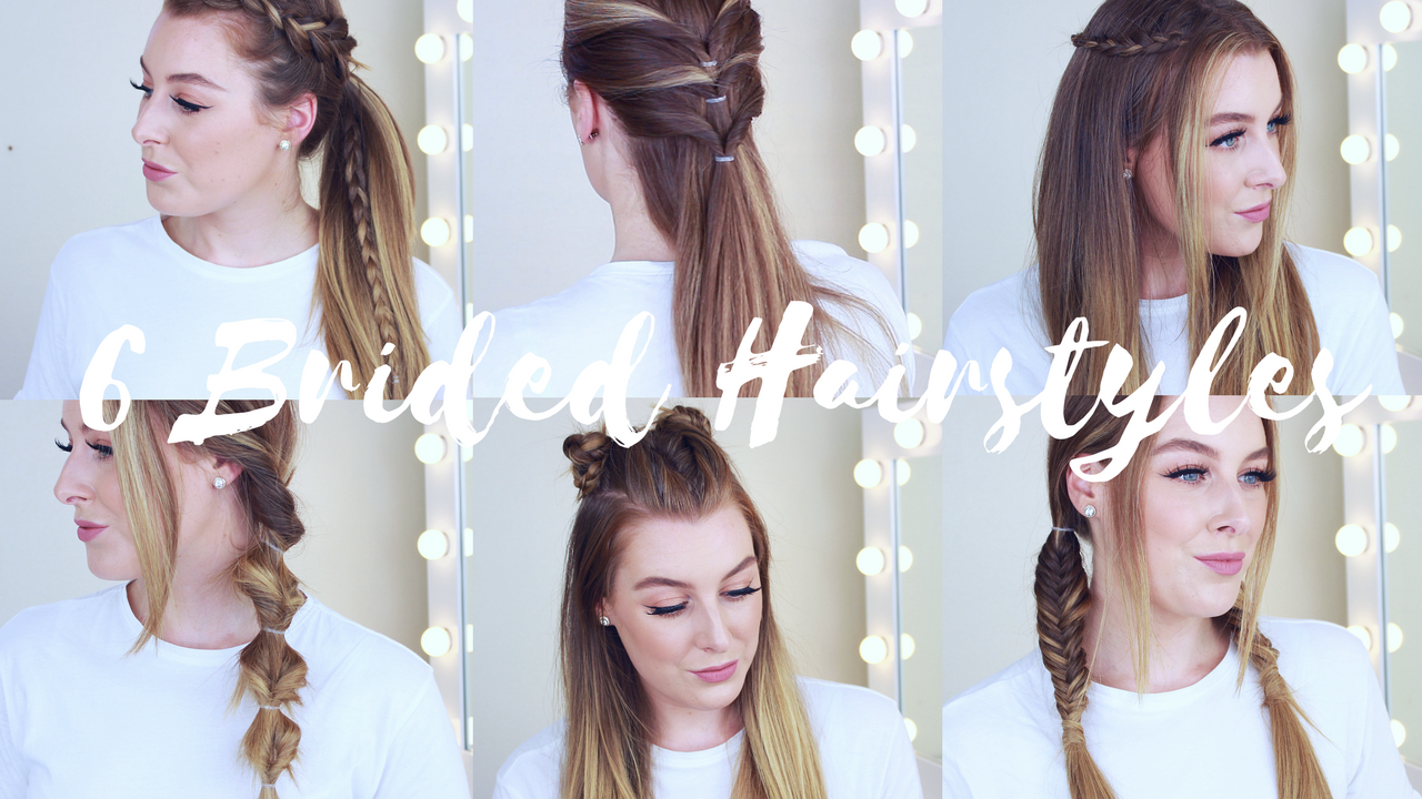 6 cute & easy braided hairstyles