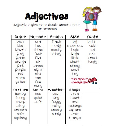 The Very Busy Kindergarten: Teaching Adjectives in First Grade