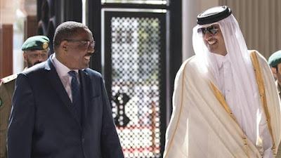 أمير قطر مع رئيس وزراء إثيوبيا