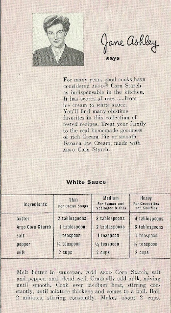 AllThingsVintage Argo Corn Starch White Sauce Recipe