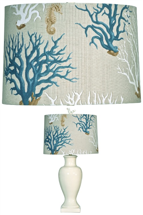 Coastal Drum Lampshade