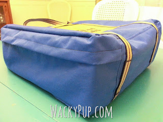 Amazingly simple way to make a carry bag for a tabletop griddle or grill like Blackstone! Complete DIY Tutorial from Wacky Pup!