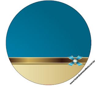 Azul y Dorado: Wrappers y Toppers para Cupcakes de Primera Comunión para Imprimir Gratis.