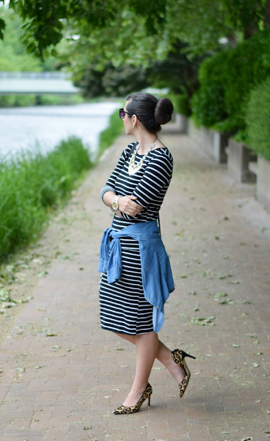 Striped Dress from Work to Date Night