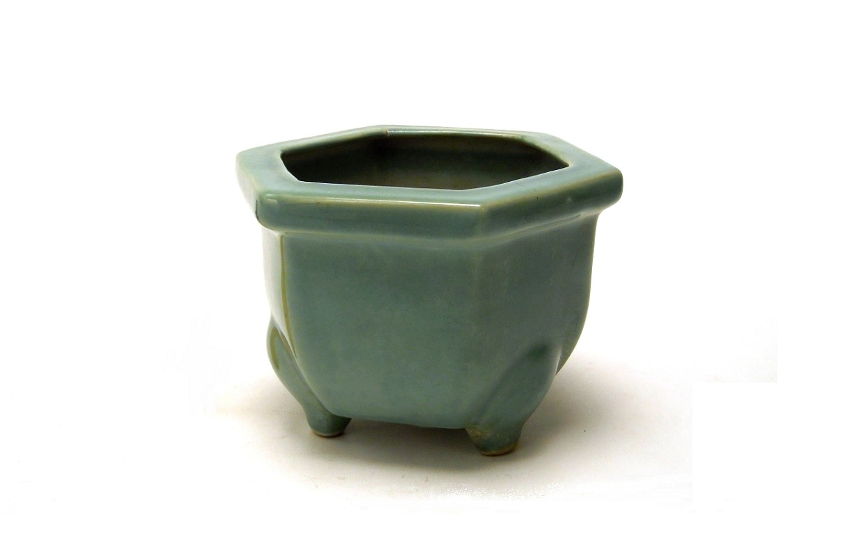 PATINA ANTIK: JAPANESE CELADON GLAZE FLOWER POT