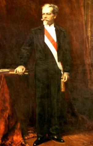 Imagen de Nicolás de Piérola con la banda presidencial