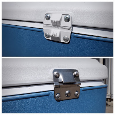 coleman cooler hinge replace replacement plastic broke metal