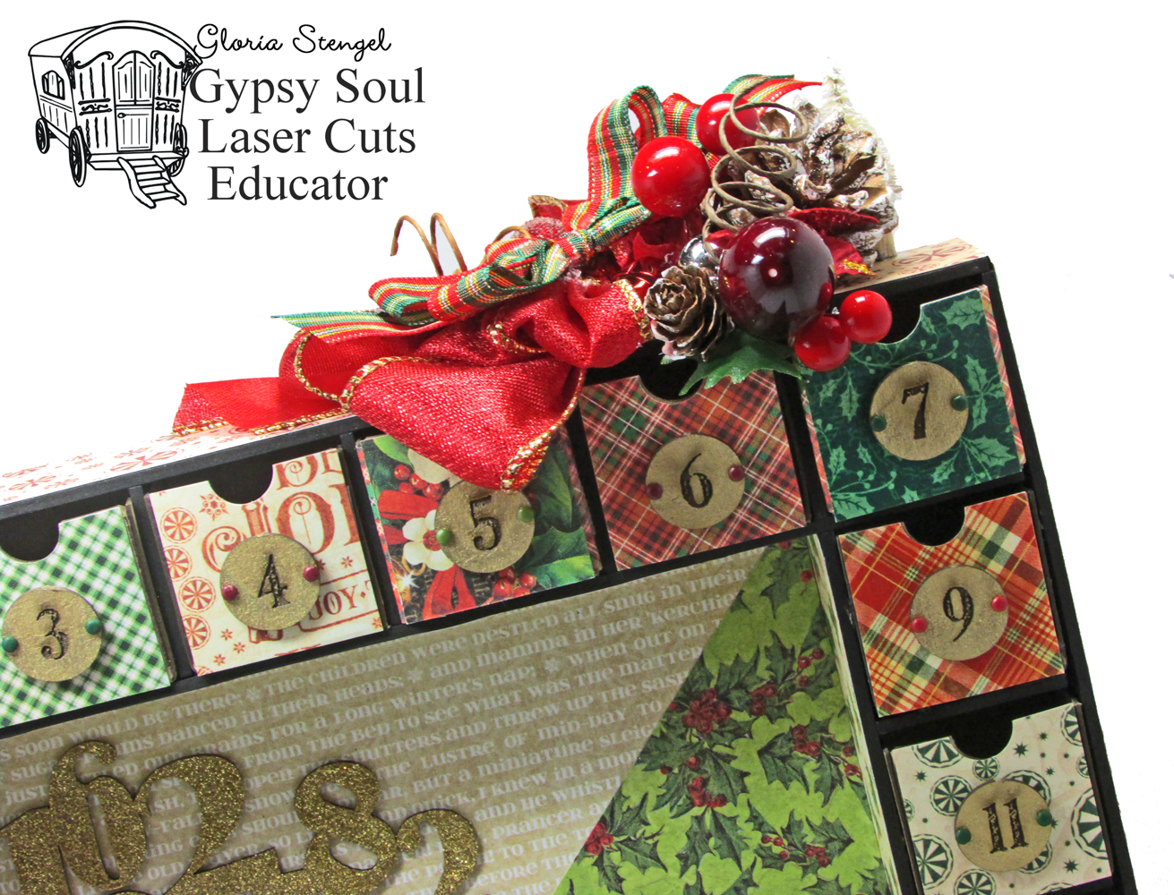 Gypsy Soul Laser Cuts: Advent Shadow Box By Gloria