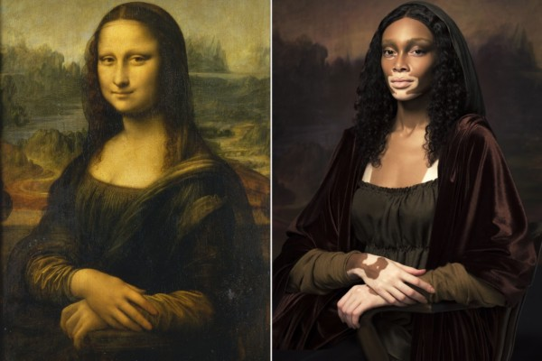 "Winnie Harlow is Mona Lisa in Harper's Bazaar's ""The Art of Beauty"""