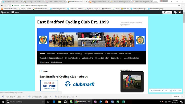 East Bradford Cycling Club New Website