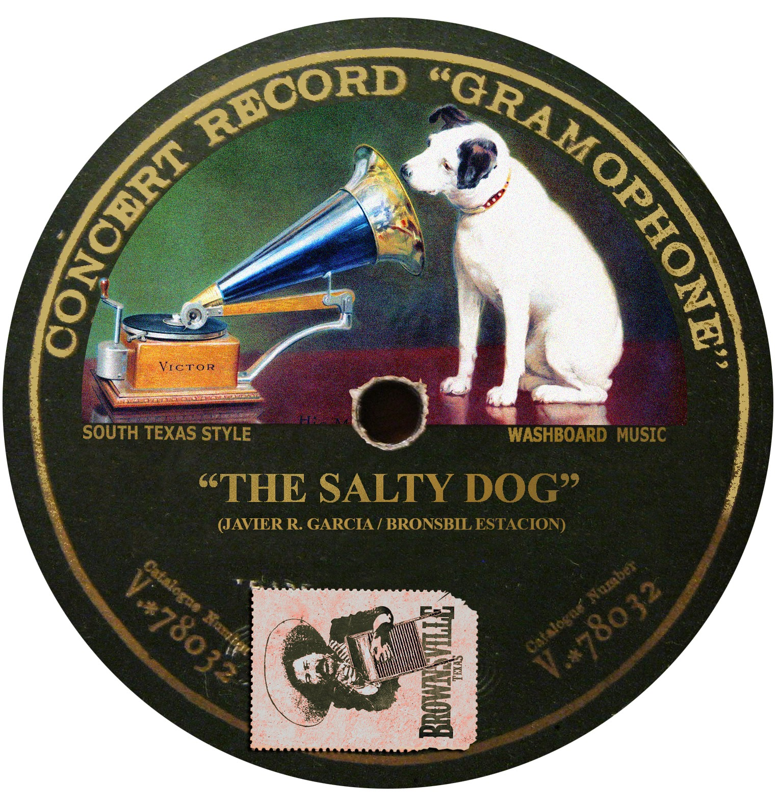 """Colorized Fotos: """"Nipper""""and The RCA Victor Record Label"""