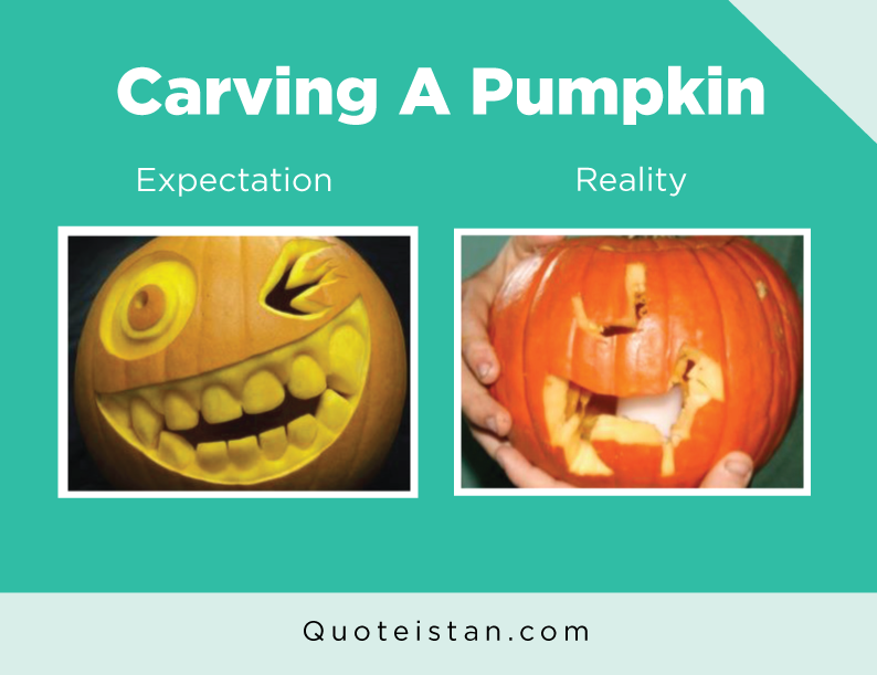Expectation Vs Reality: Carving A Pumpkin