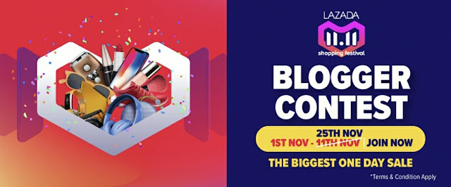 Lazada 11.11 Blogger Contest - JUALAN SEHARI TERBESAR!