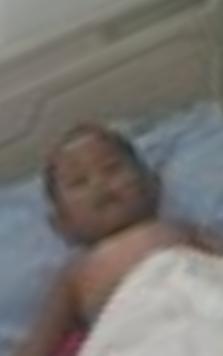 Korban saat di rumah sakit.