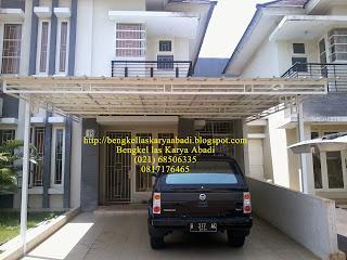 contoh gambar canopy minimalis atap spandek