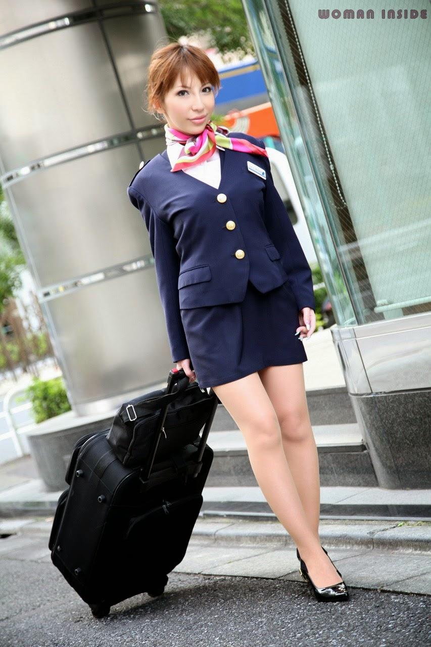 image Three japanese airline stewardess kissing